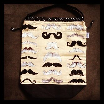 Moustache Bag from Slipped Stitch Studios
